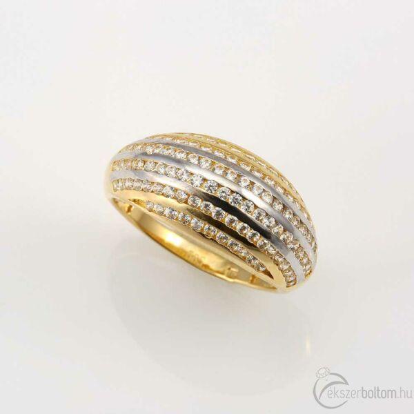 Nauszikaa sárga 14 karátos arany köves női gyűrű (53-as méret)