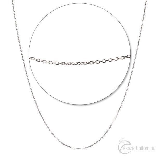 Négylapú anker fehér arany nyaklánc