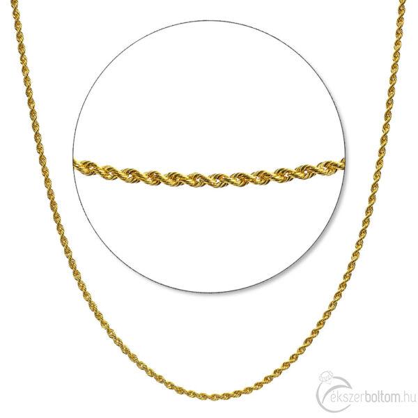 Sárga arany üreges valesz lánc