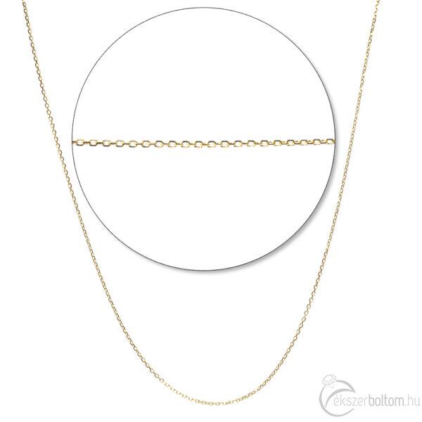 Négylapú anker sárga arany nyaklánc
