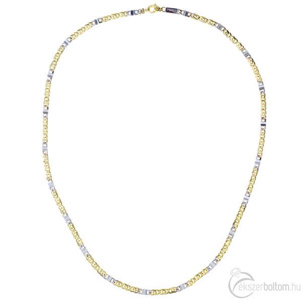 14 karátos sárga-fehér arany sasrlesz-fantázia uniszex nyaklánc