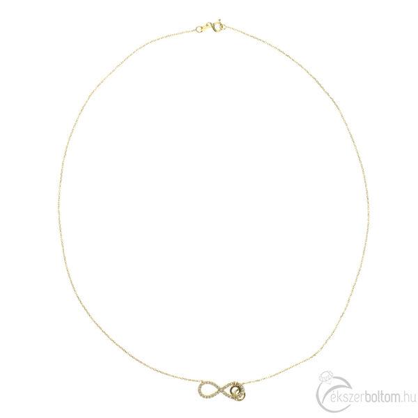 Sárga arany, köves Infinity (Végtelen) lánc
