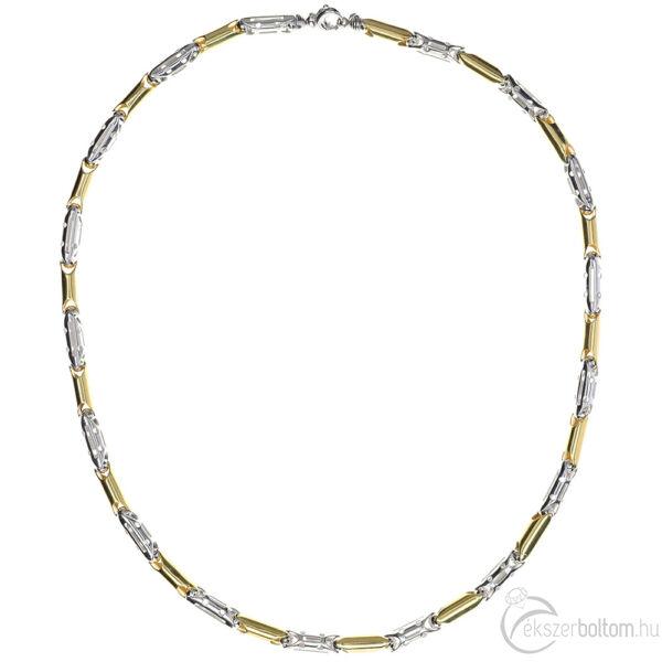 Tauro 14 karátos sárga-fehér arany férfi nyaklánc 44,73 g
