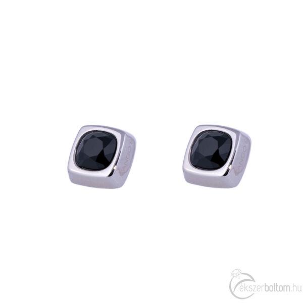 Cango & Rinaldi Cube ezüst színű fülbevaló BD kővel