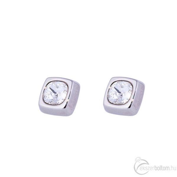 Cango & Rinaldi Cube ezüst színű fülbevaló kristály kővel