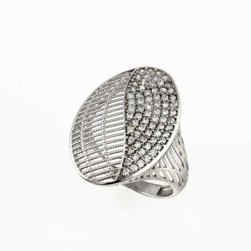 """""""Starlit Lacework"""" ezüst gyűrű"""