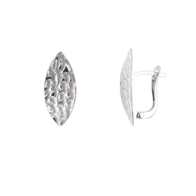 """""""Swirl"""" ezüst fülbevaló"""