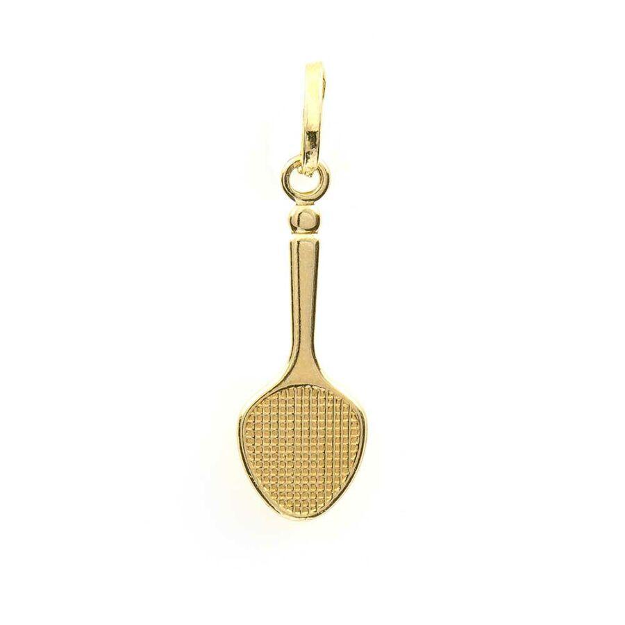 Arany tollasütő medál, 14 karátos