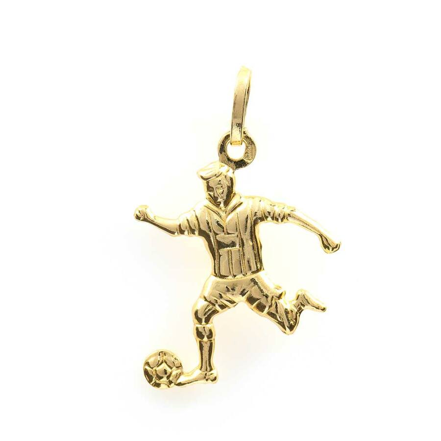 Sárga 14 karátos arany focista medál, 1,15 g