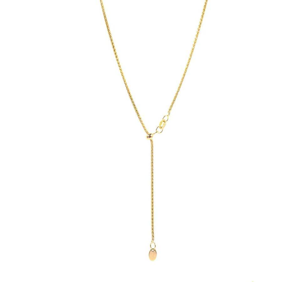 Barbara 14 karátos arany Y-lánc, 45–60 cm közt állítható