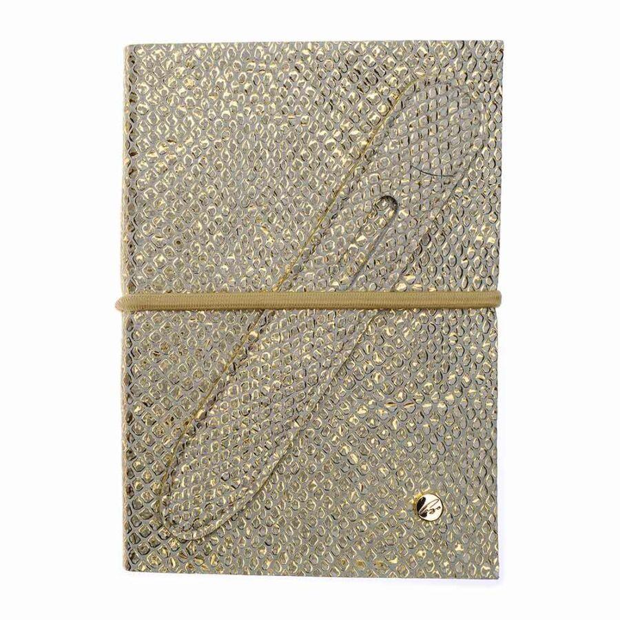 Cango & Rinaldi arany pitonmintás bőr kötésű öröknaptár