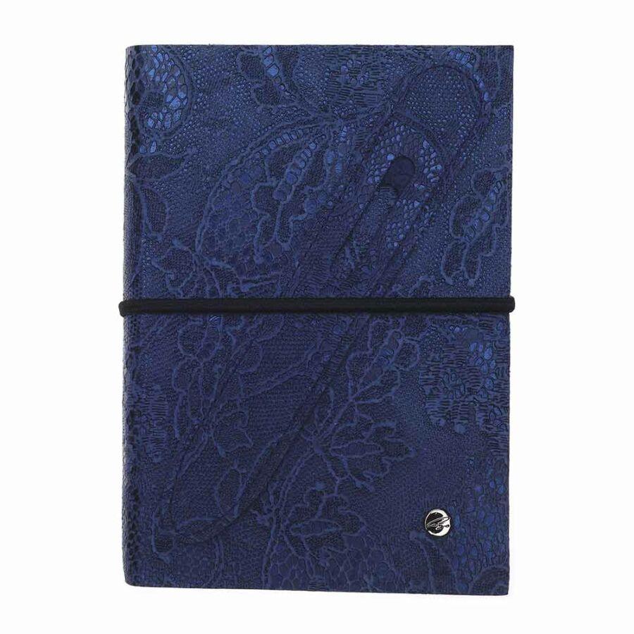 Cango & Rinaldi kék nyomott mintás kötésű öröknaptár