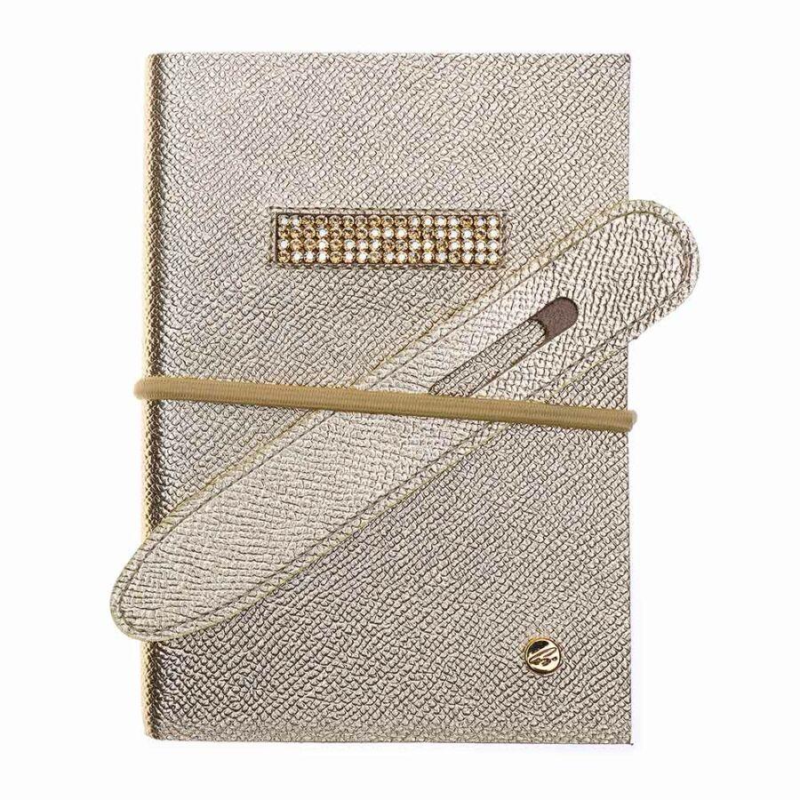Cango & Rinaldi arany nyomott mintás bőr kötésű öröknaptár