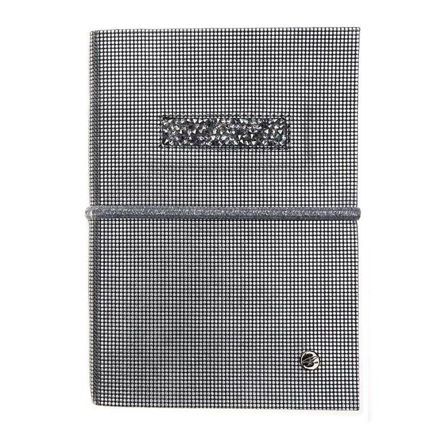 Cango & Rinaldi ezüst nyomott mintás bőr kötésű öröknaptár