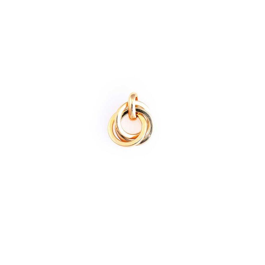 Vésett, ródiumozott sárga 14 karátos arany medál