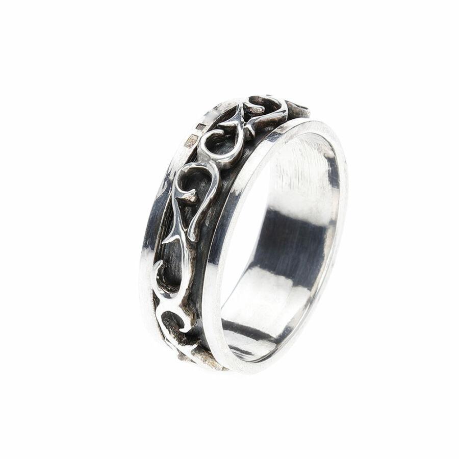 Sulur 925‰-es ezüst gyűrű, 67-es méret