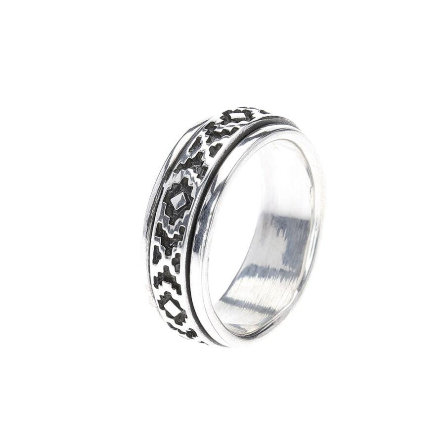 Oxomoco antikolt ezüst forgós gyűrű