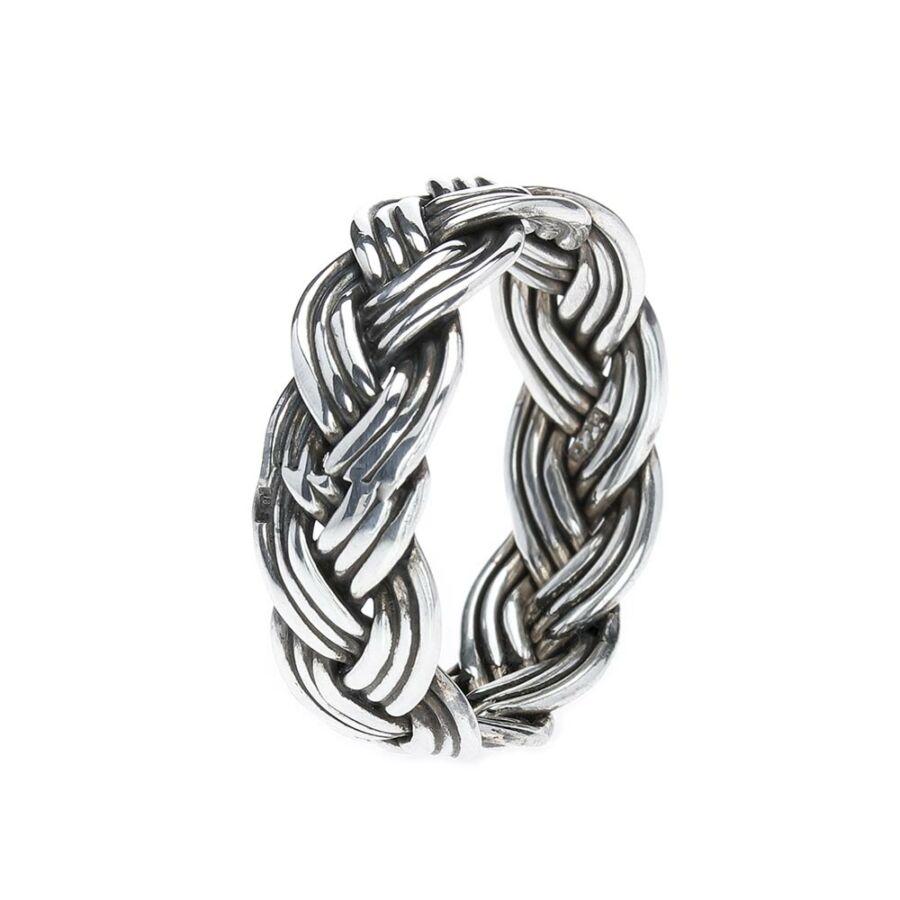 Kepang Tiga tripla fonatos antikolt 925‰-es ezüst gyűrű