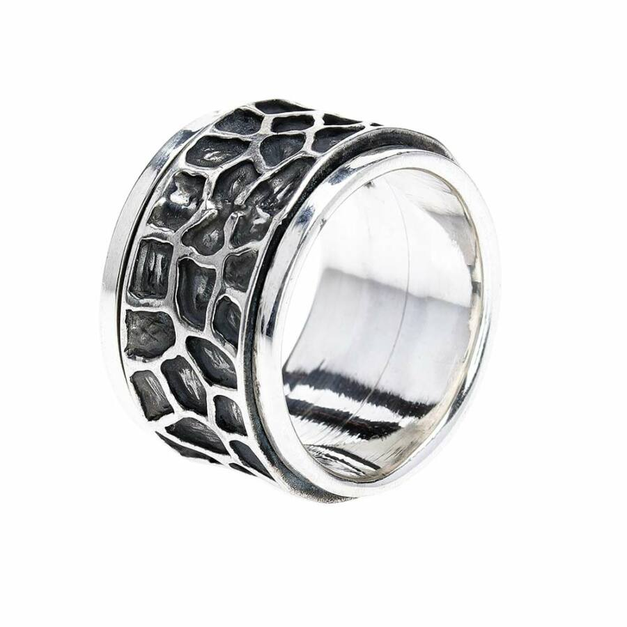 Bersisik antikolt ezüst gyűrű, 64-es méret