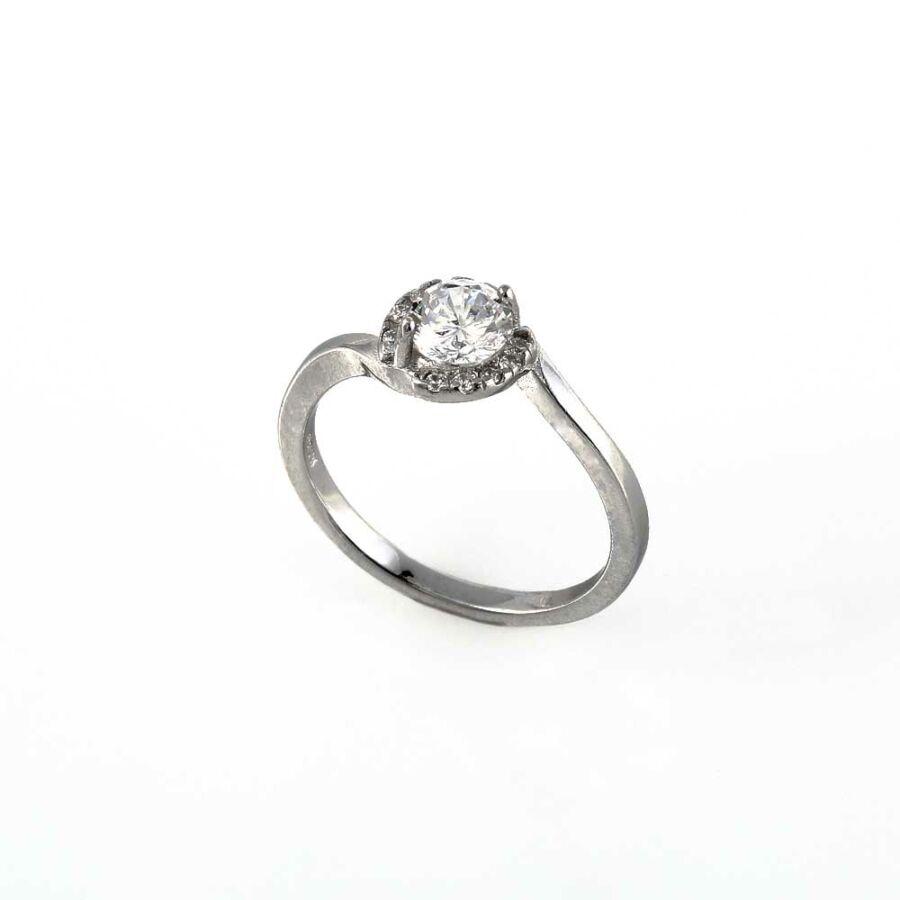 Körbe köves szoliter ezüst gyűrű
