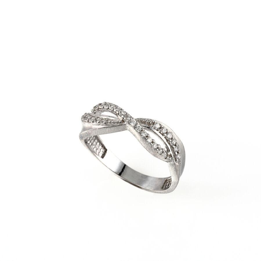 Összefonódó mintás ezüst gyűrű