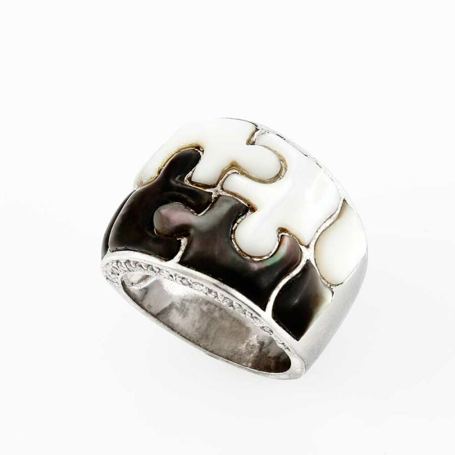 """""""Puzzle"""" ezüst gyűrű"""