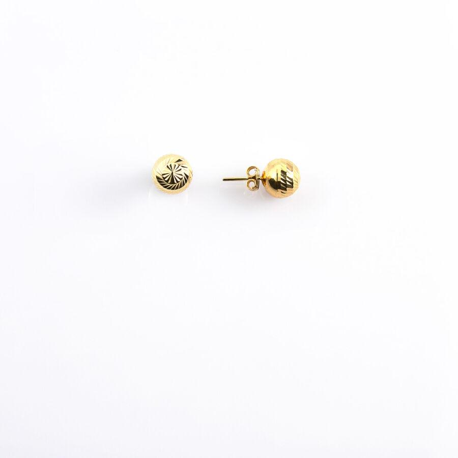 Vésett bogyós sárga 14 karátos arany fülbevaló (kisebb)