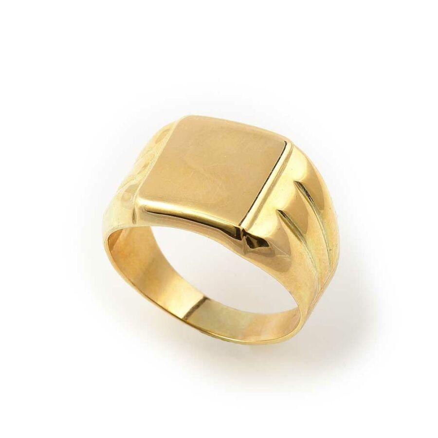 Arany 14 karátos férfi pecsétgyűrű (60-as méret)