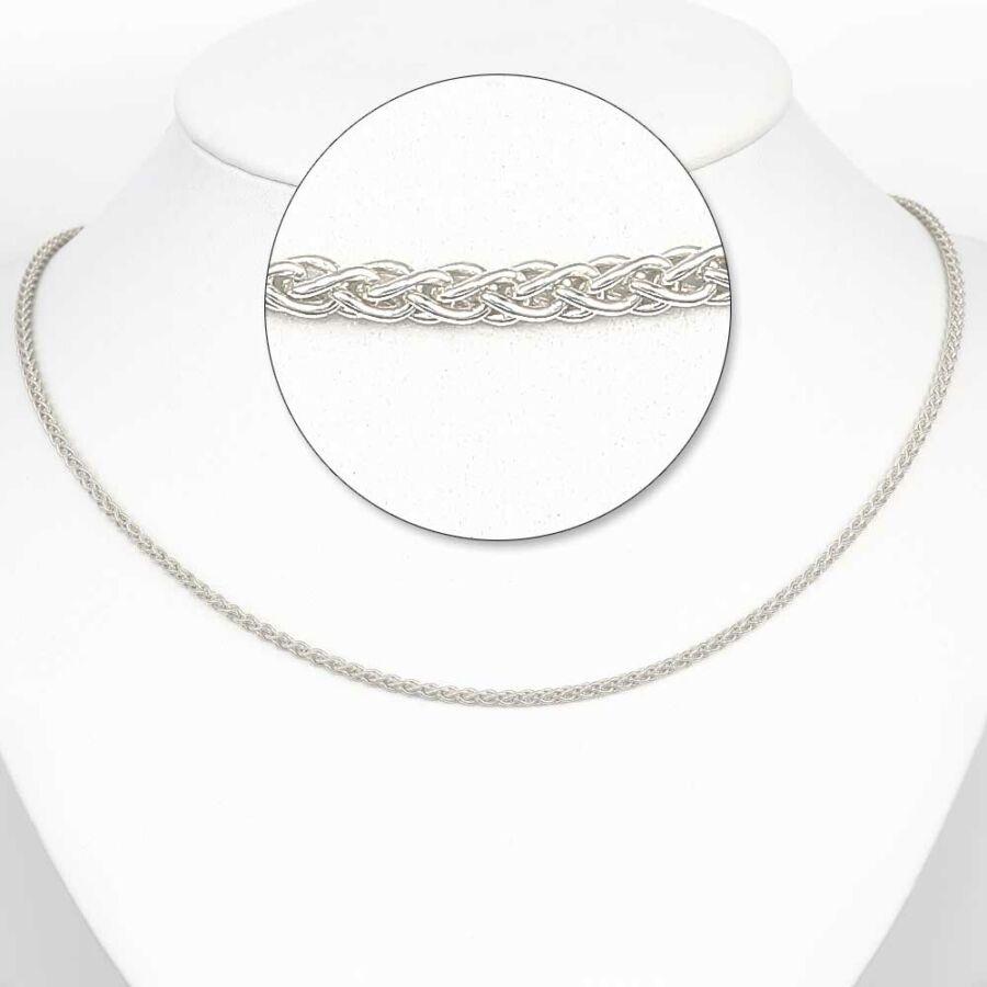 Ródiumozott ezüst barbara lánc