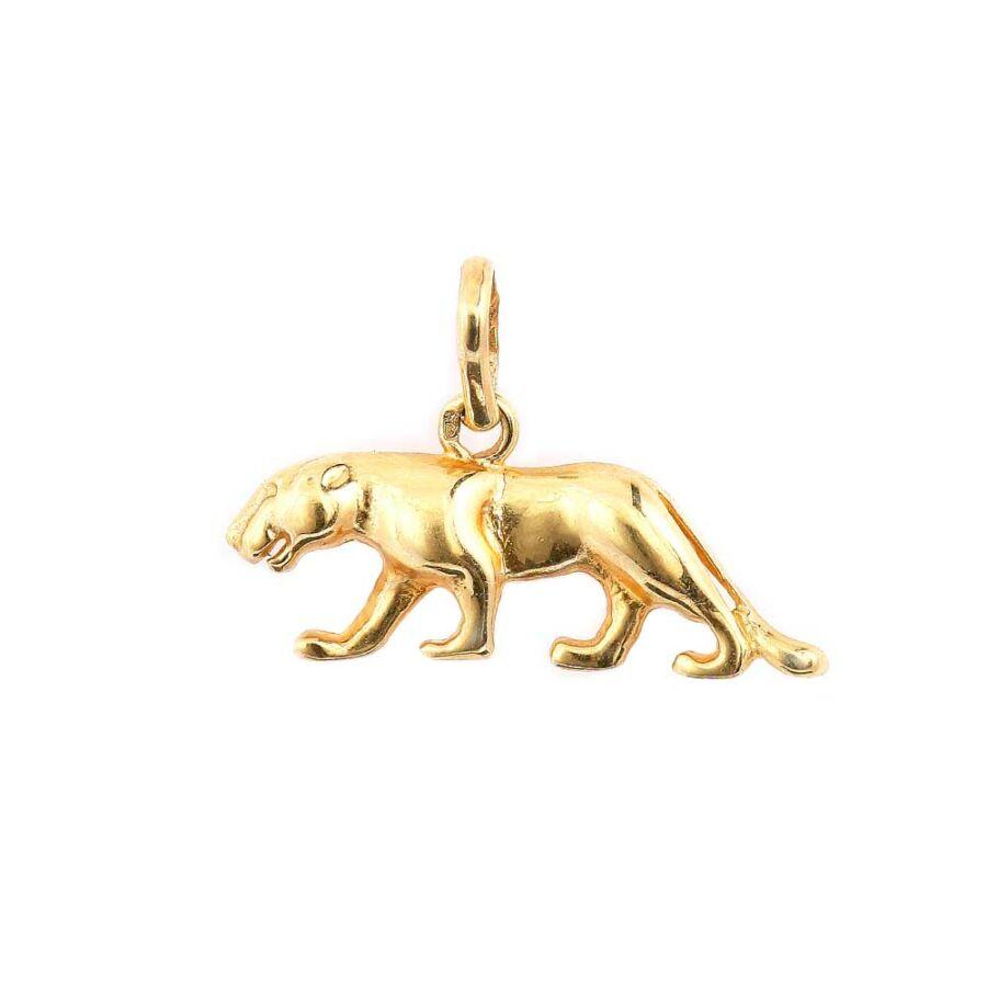 Sárga 14 karátos arany párduc medál
