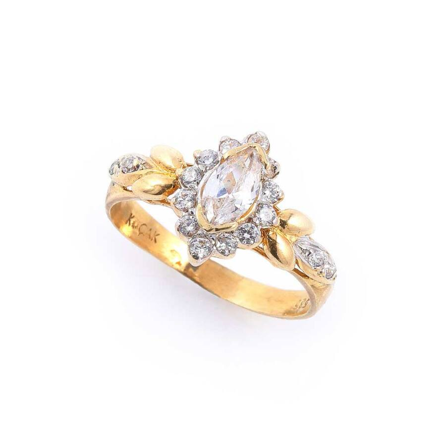 Monarch sárga 14 karátos arany női gyűrű (56-os méret)