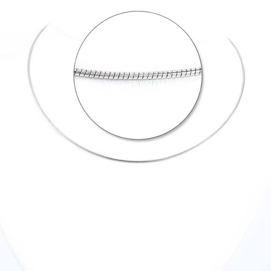 Ródiumozott ezüst Omega Round lánc