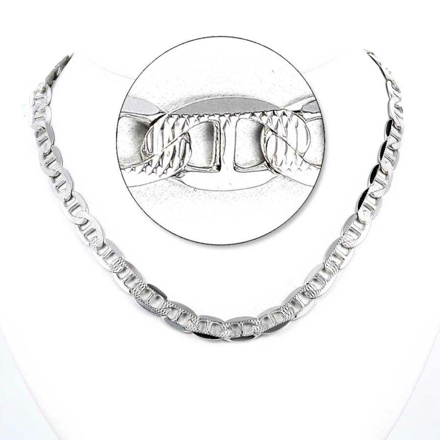 """""""Marina Pave"""" vésett ezüst lánc"""