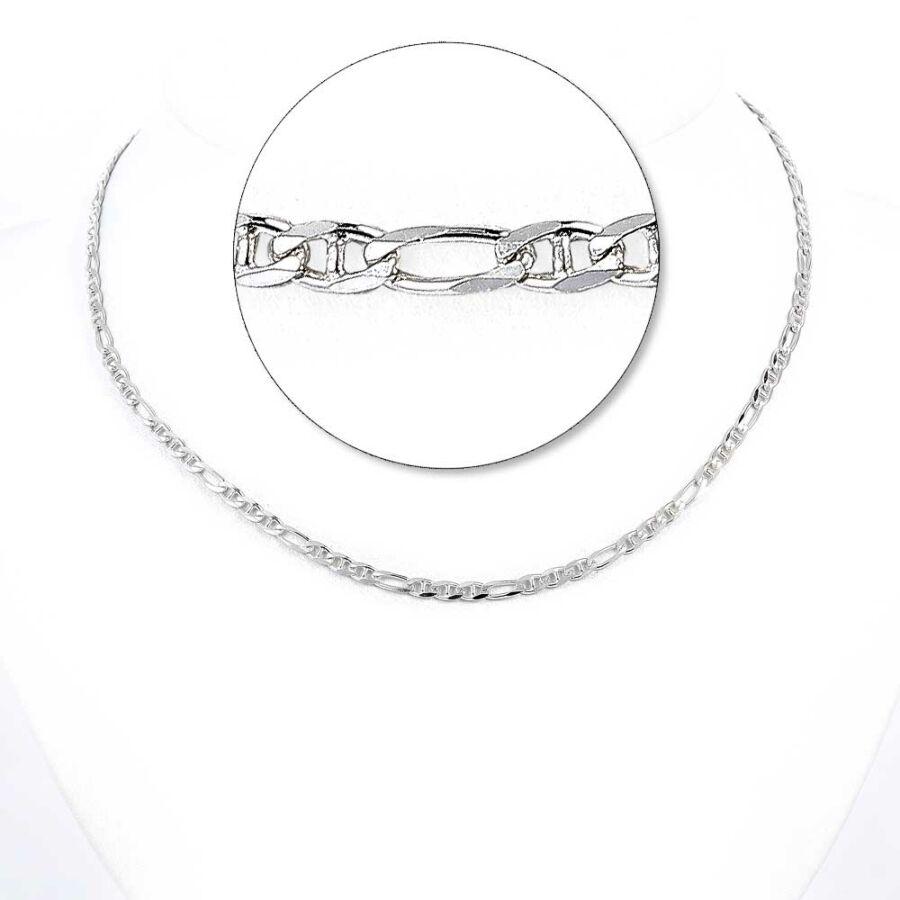 Ezüst női pálcikás figaró lánc