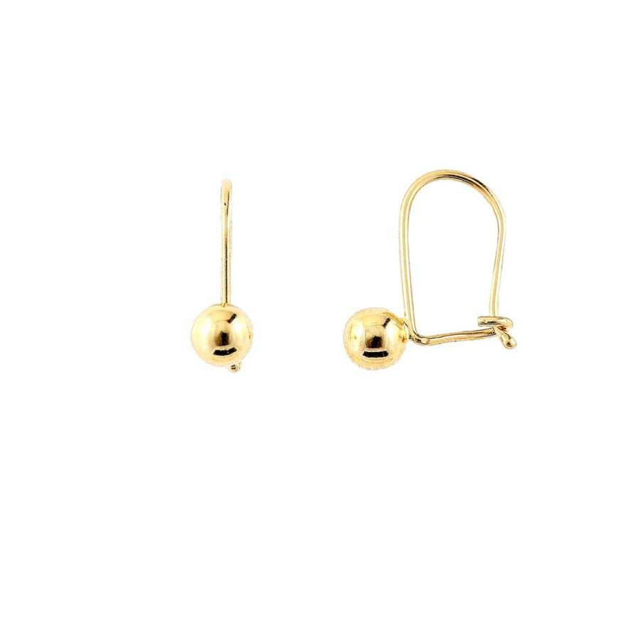 Sárga 14 karátos arany bogyó fülbevaló beakasztóval