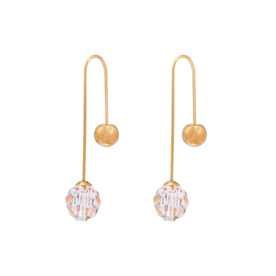 Cango & Rinaldi Planet arany színű fém fülbevaló AB kristállyal
