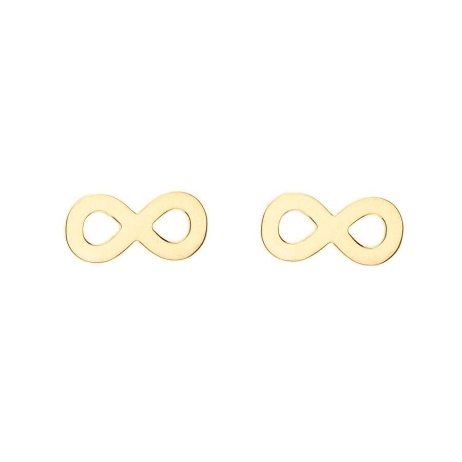 Sárga arany Infinity (Végtelen) bedugós fülbevaló