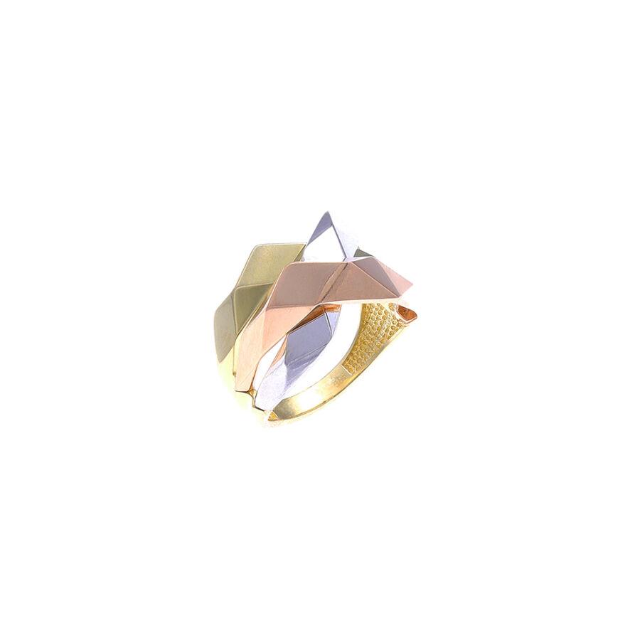 """""""WDC Hall LA"""" háromszínű 14 karátos arany gyűrű (58-as méret)"""