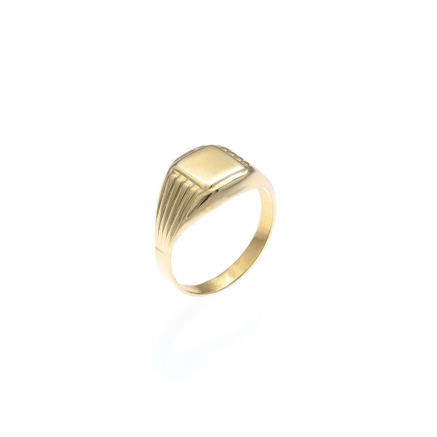 Könnyű 14 karátos arany kis méretű férfi pecsétgyűrű (63-as méret)