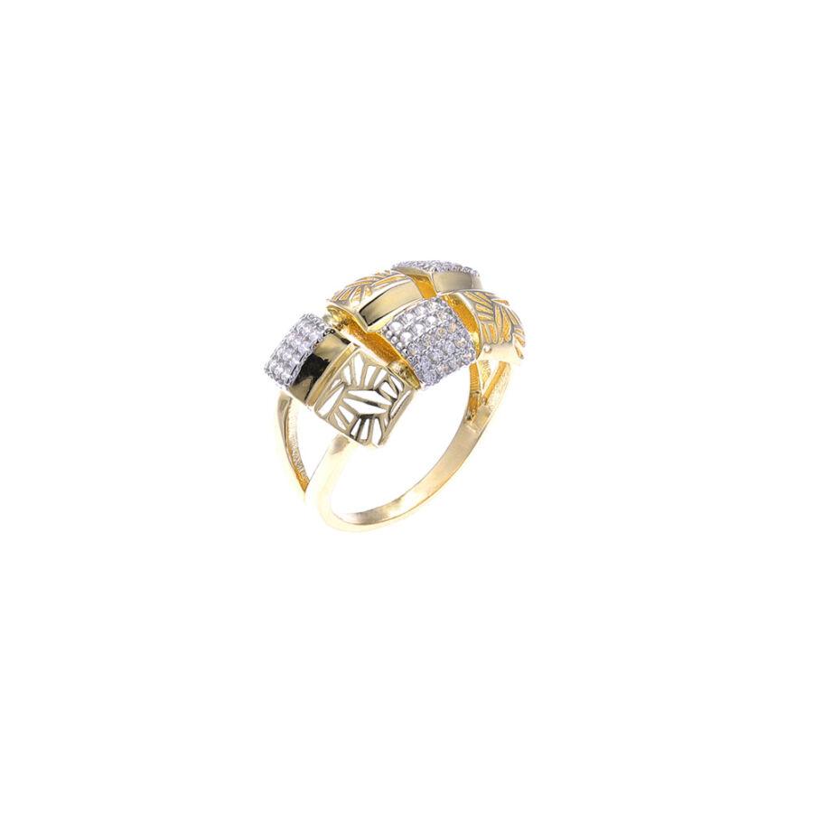 """""""Ca' d'Oro"""" sárga sokköves gyűrű (58-as méret)"""