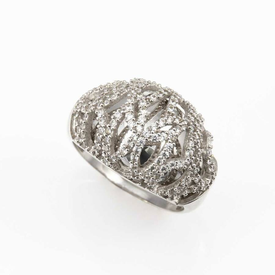 Eidolon fehér 14 karátos arany női gyűrű (56-os méret)