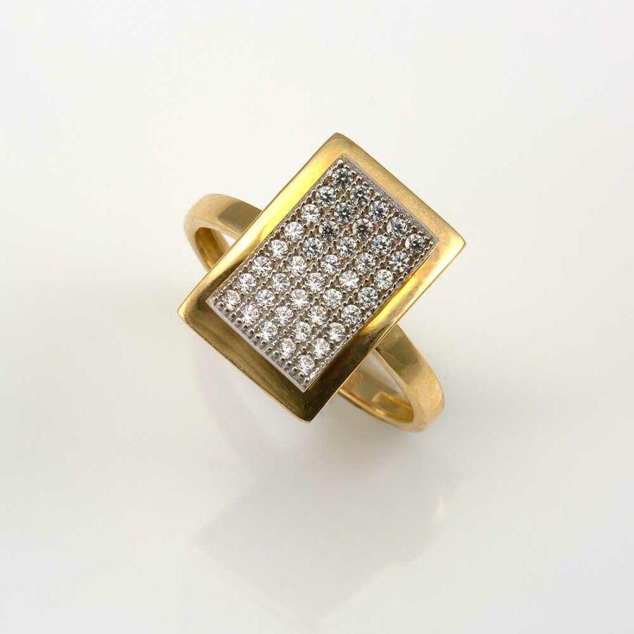 Tabula sárga 14 karátos arany női gyűrű (53-as méret)