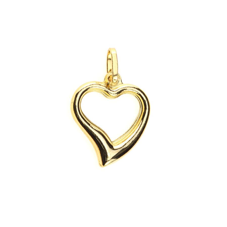 """""""Cuore Bello"""" sárga 14 karátos arany kő nélküli szív medál 1,26 g"""