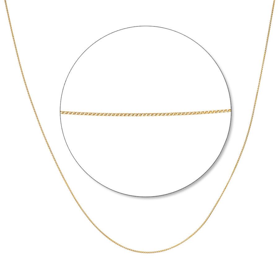 Sárga arany barbara lánc