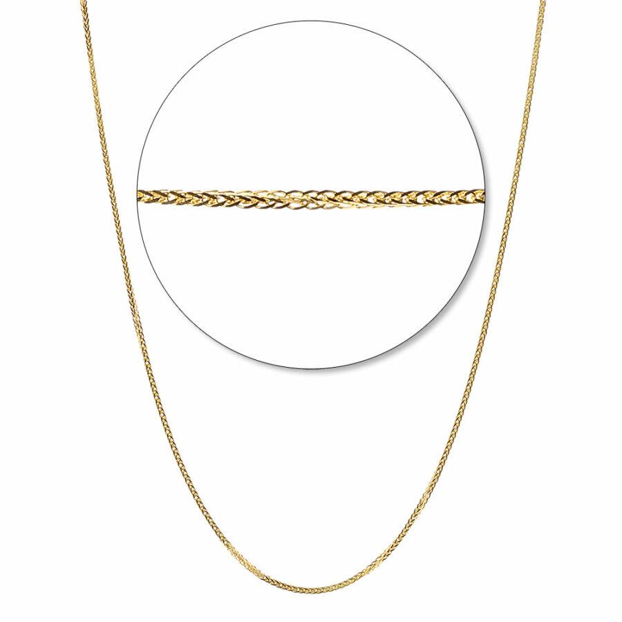 Sárga arany sűrű barbara lánc