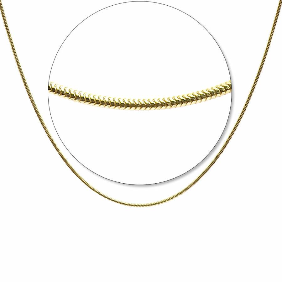 Sárga arany üreges D/C8L kígyólánc