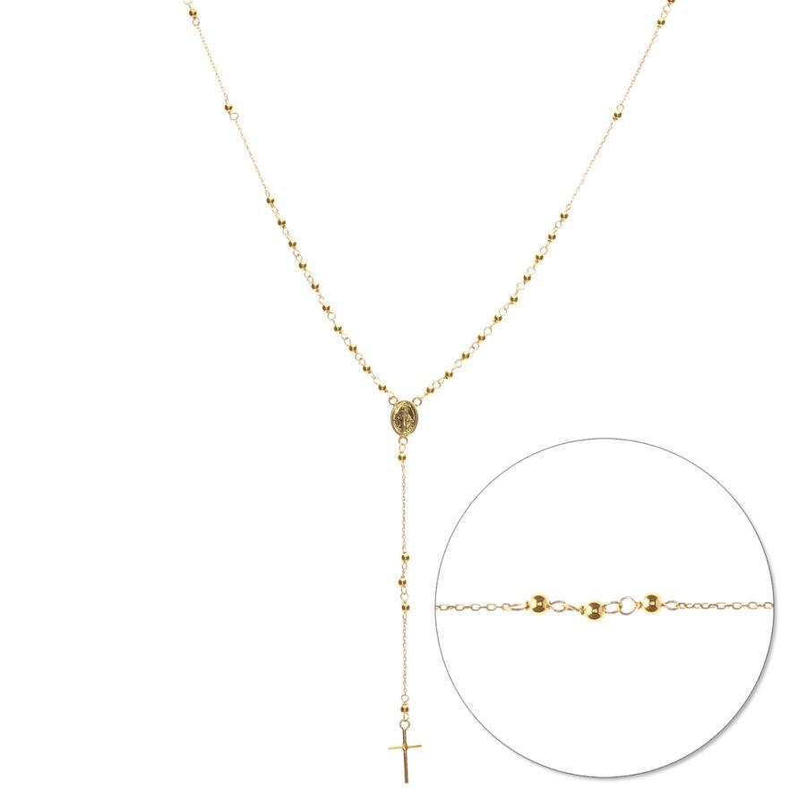 Rosarium rózsafüzér sárga aranyból (részlet)