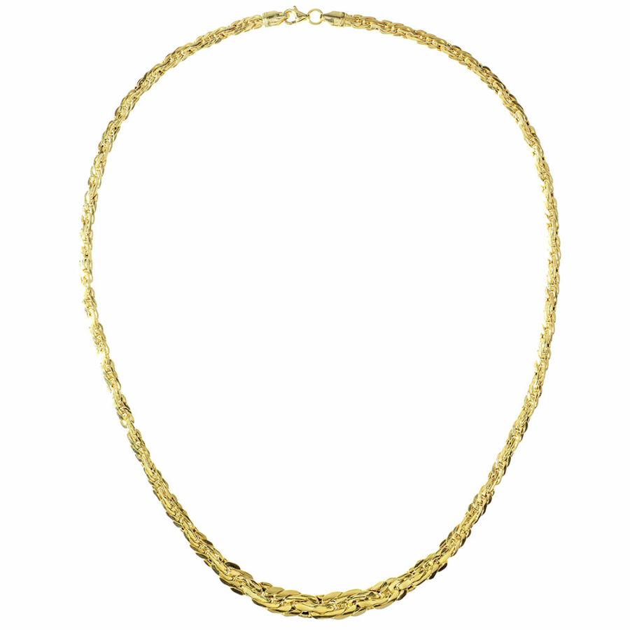14 karátos sárga arany szélesedő lapított valesz nyaklánc
