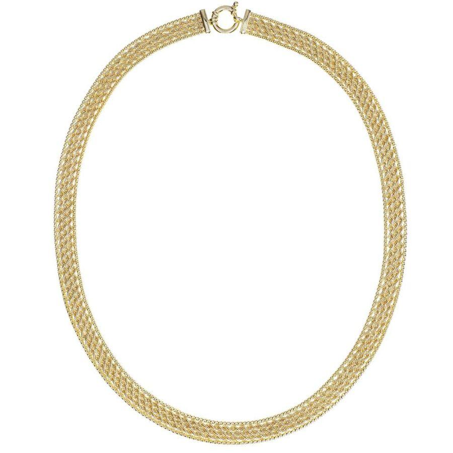 Ötsoros valesz-fantázia nyaklánc 14 karátos sárga aranyból