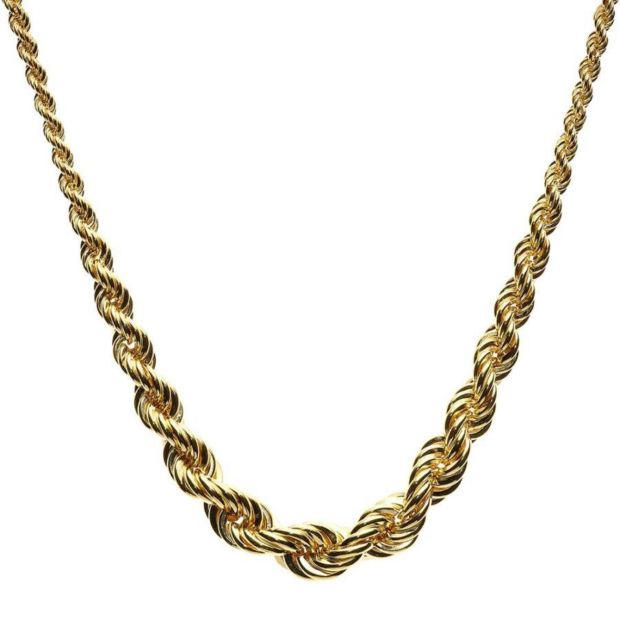 Üreges sárga arany szélesedő (verlaufos) valesz lánc